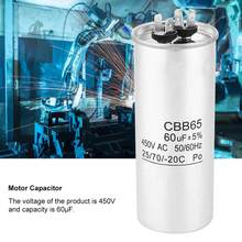 CBB65 60UF 450V Capacitor Start Motor for Air Conditioning Compressor Heat Sink Transistor 40/70/21 degree Operating Temperature(China)