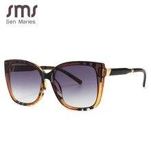 Sen Maries Square Sunglasses Women Cat Eye Stripe Ultralight Vintage Glasses Fra