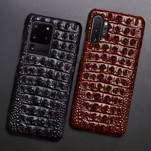 Image 2 - Leather Phone Case For Samsung S20 Ultra S10 S10e S9 S8 S7 Note 8 9 10 20 Plus A20 A30 A50 A70 A51 A71 A8 Crocodile Back Texture