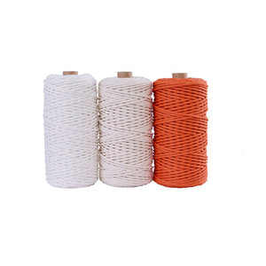 Image 4 - 3mm 100% Cotton Cord Colorful Cord Rope Beige Twisted Craft Macrame String DIY Home Textile Wedding Decorative supply 110yards
