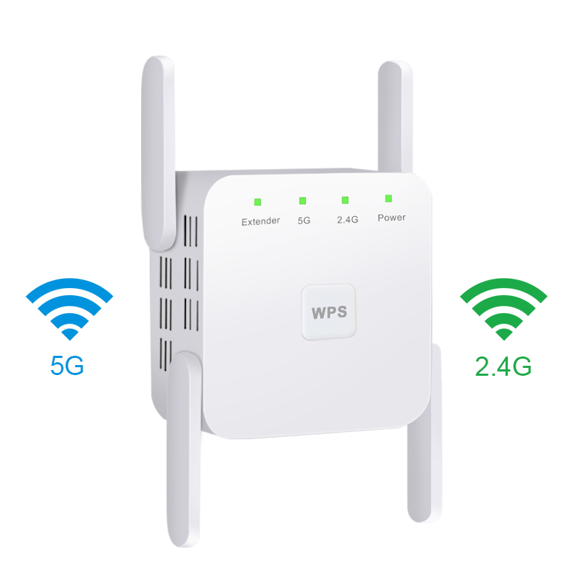 5G Wireless WiFi Repeater Wi Fi Booster 2.4G 5Ghz Wi-Fi Amplifier 300Mbps 1200 Mbps 5 ghz Signal WiFi Long Range Extender(China)