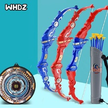 Child Boy Shooting Simulation Bow and Arrow Set Toy Foldable Parent-child Interaction Outdoor Role Playing Birthday Gift