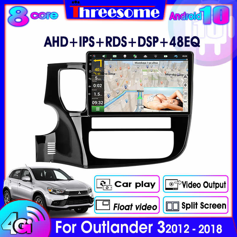 4G + 64G Android 10.0 GPS per auto radio per Mitsubishi Outlander 3 2012-2018 Multimedia Video Player 4G rete WIFI 8 core DSP RDS 48EQ