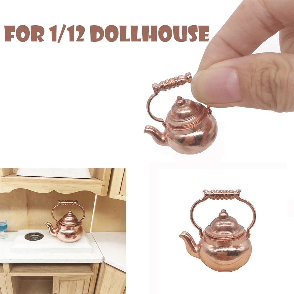 Retro Kettle Pot Open Lid Dollhouse Miniature Re-ment 1:12 Scale Fairy Home  Dropshipping Wholesale GIFTS For Kids Funny Toys#2