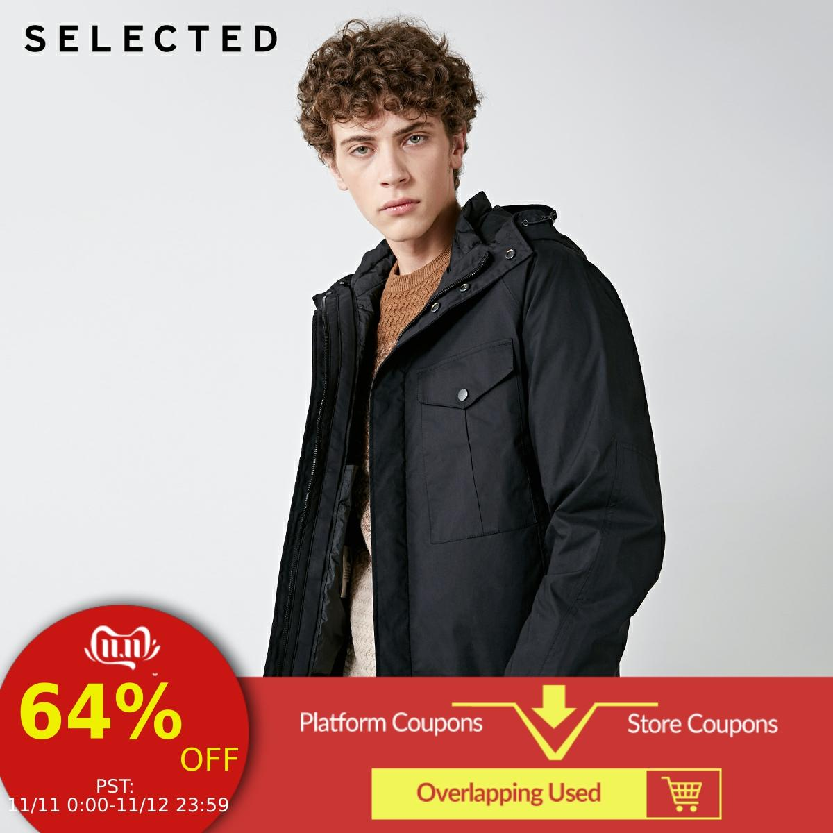 SELECTED Winter Removable Two-piece Down Jacket New Short Coat Men's Hat Down Clothes Suit S | 418412578