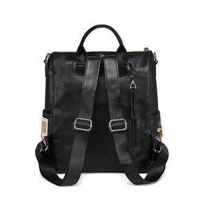 Image 3 - Ipinee mulheres mochila moda causal sacos de alta qualidade bordado feminino bolsa ombro mochilas de couro do plutônio para as mulheres