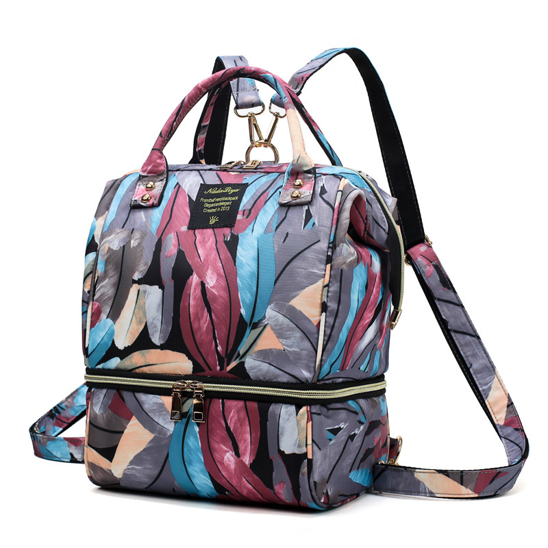 New 2019 Printed Diaper Bag Organizers Wet And Day Mini Baby Bag Small Crossbody Matermal Backpack Nappy Bag Cute Tote Mummy Bag