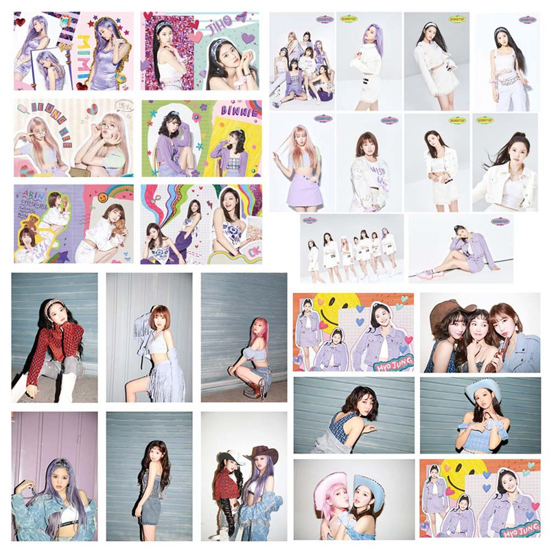 16Pcs/Set Kpop OH MY GIRL New Album Nonstop Crystal Card LOMO Cards Photocard For Fans Collection