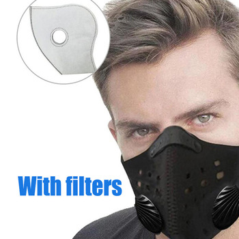 1/5/10 Pcs Pm2.5 Filter Dual Exhale Valves Dustproof Ind-proof Bike Moto Cycling Face Mask Non-Hanging Ear Sports Facemask New