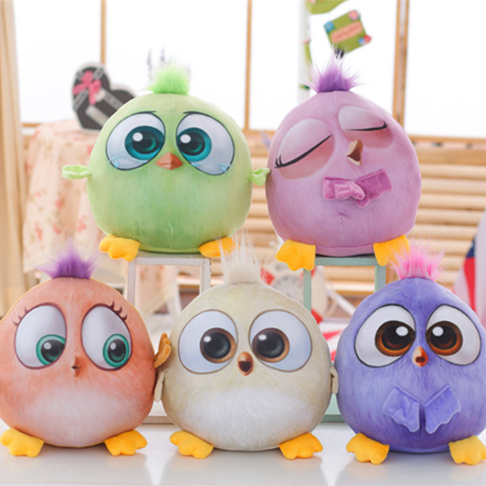 New Bird Movie Angry Cute Bird Plush Animal Soft Stuffed Toy Doll Chicken Pillow Home Decoration Birthday Christmas Gift WJ243