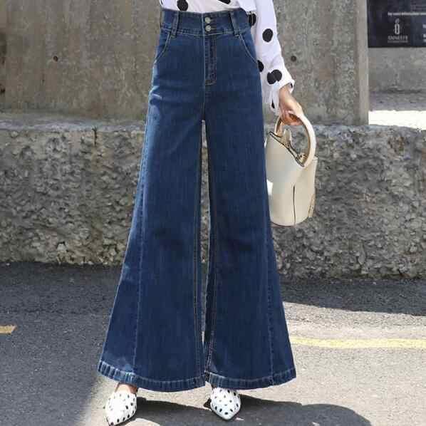 Jeans Para Mujer Pantalones Sueltos Mujer Cintura Alta Pantalones De Pierna Ancha Pantalones Palazzo Streetwear Pantalones Mujer Dc127 Pantalones Y Pantalones Capri Aliexpress