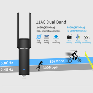 Image 4 - COMFAST Usb Wifi Adapter 1200Mbps Dual Band Wi fi dongle 2.4Ghz + 5Ghz Computer AC Network Card USB 3.0 Antenna 802.11ac/b/g/n