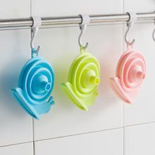 Household Collapsible Mini Snail Funnel Food Grade Silica Gel Separatory Funnel Kitchen Packing Oil Funnels white chemistry laboratory equipment plastic ptfe separatory funnel