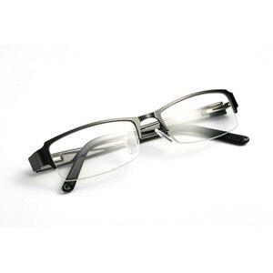 Image 3 - BCLEAR klasyczne pół obręczy ze stopu okulary rama marka projektant biznes mężczyźni rama okulary spektakl wiosna zawias na octanu nogi