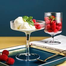 Бокал для ресторана, Коктейльная чашка для вина, контейнер для пирожных, закусок, бокал с вертикальными полосками для мороженого, йогурта, к...