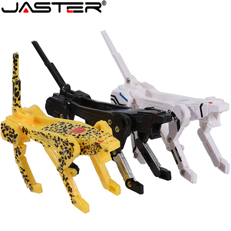 JASTER Hot Sale U Disk 32g Special Offer Cartoon Character U Disk 16g Cool Transformation Robot Gift U Disk 64G Free Shipping