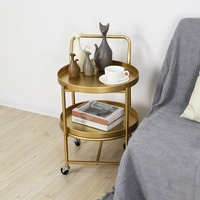 Pulley Movable Living Room Bedroom Coffee Table Coffee Table Rack Storage Rack Display Plate