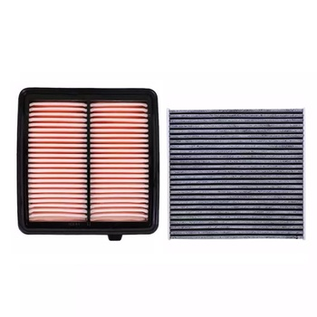 Air Filter Cabin Filter 17220-RB0-000 2 pcs Set For Honda FIT CITY 1.3L 1.5L Model 2008 2009-Today Car Accessoris Filter Set image