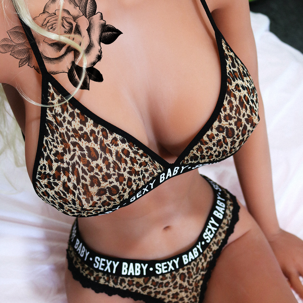 Leopard Exotic Sets Women Sexy Lingerie Push-up Bra+G-string Thong Panties Bra Set Babydoll Underwear Intimate Nightwear
