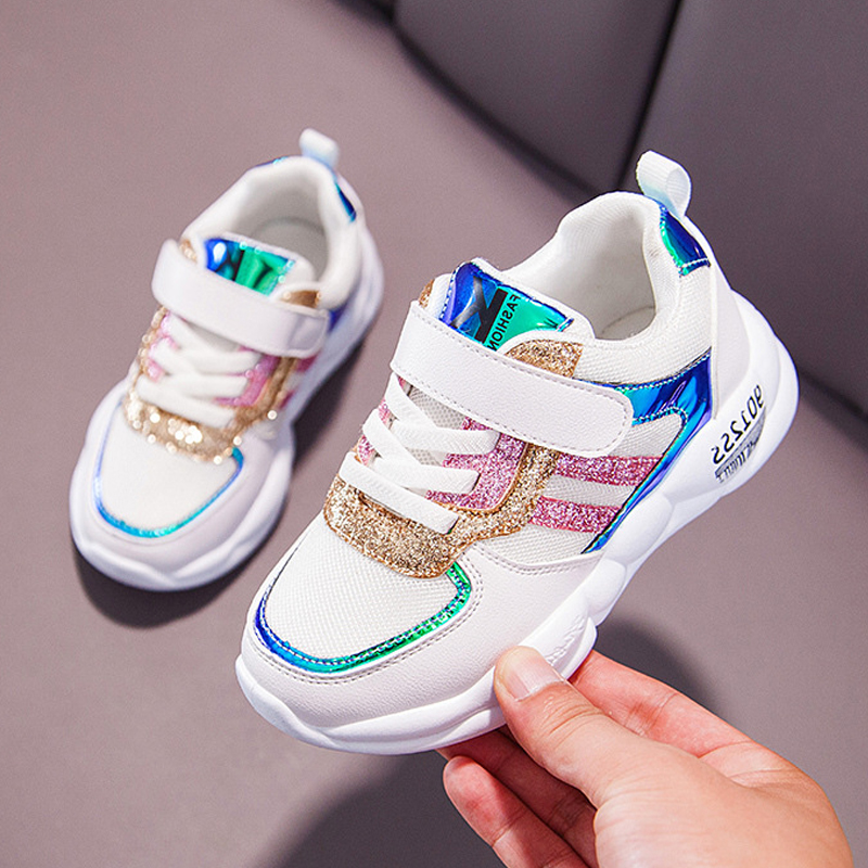 Sequins Sneakers Spring Autumn Girls Kid Shoes Children Boys Soft Outdoor Shoes Sport Casual Sneakers Girl Shoes For Kids 26-37