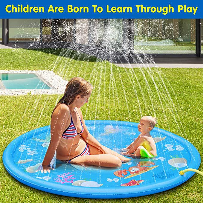 Baby Child Water Game Pad Inflatable Baby Playmat Baby Entertainment Center