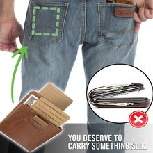Men Wallets RFID Slim Small Leather Wallet