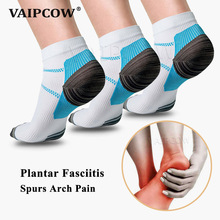 VAIPCOW Compression Socks For Plantar Fasciitis Foot Pad Heel Spurs Arch Pain Comfortable Socks Venous Ankle Sock Insoes