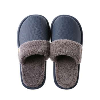 JIANBUDAN Plush warm Home flat slippers Lightweight soft comfortable winter slippers Women's cotton shoes Indoor plush slippers 6