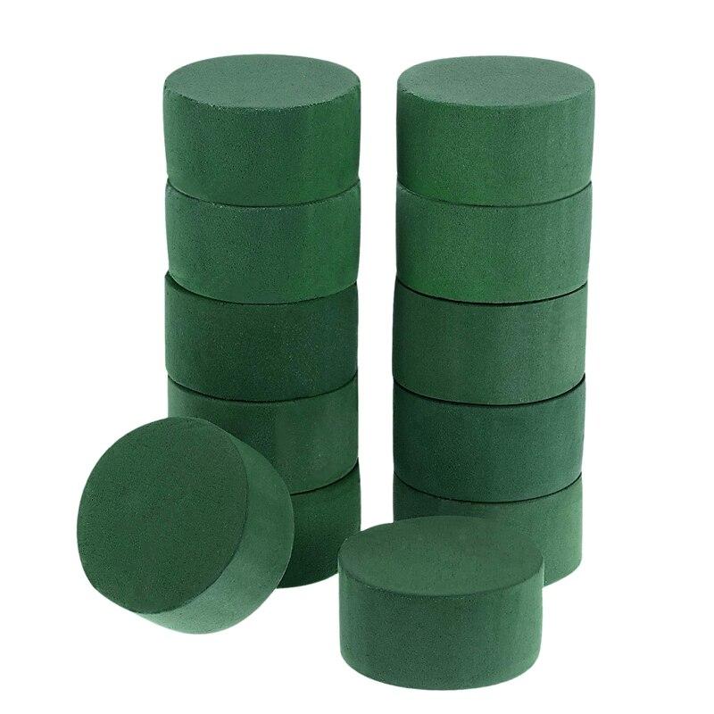 12 шт./компл. DIY набор цветов зеленый круглый мокрый цветочный пенопласт Свадебные вечерние украшения