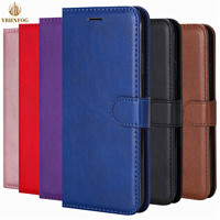 Leather Wallet Case Voor Huawei Psmart 2020 P8 P9 Lite 2017 P10 P20 Lite 2019 P30 P40 Pro Flip Cover houder Slots Card Stand Bag