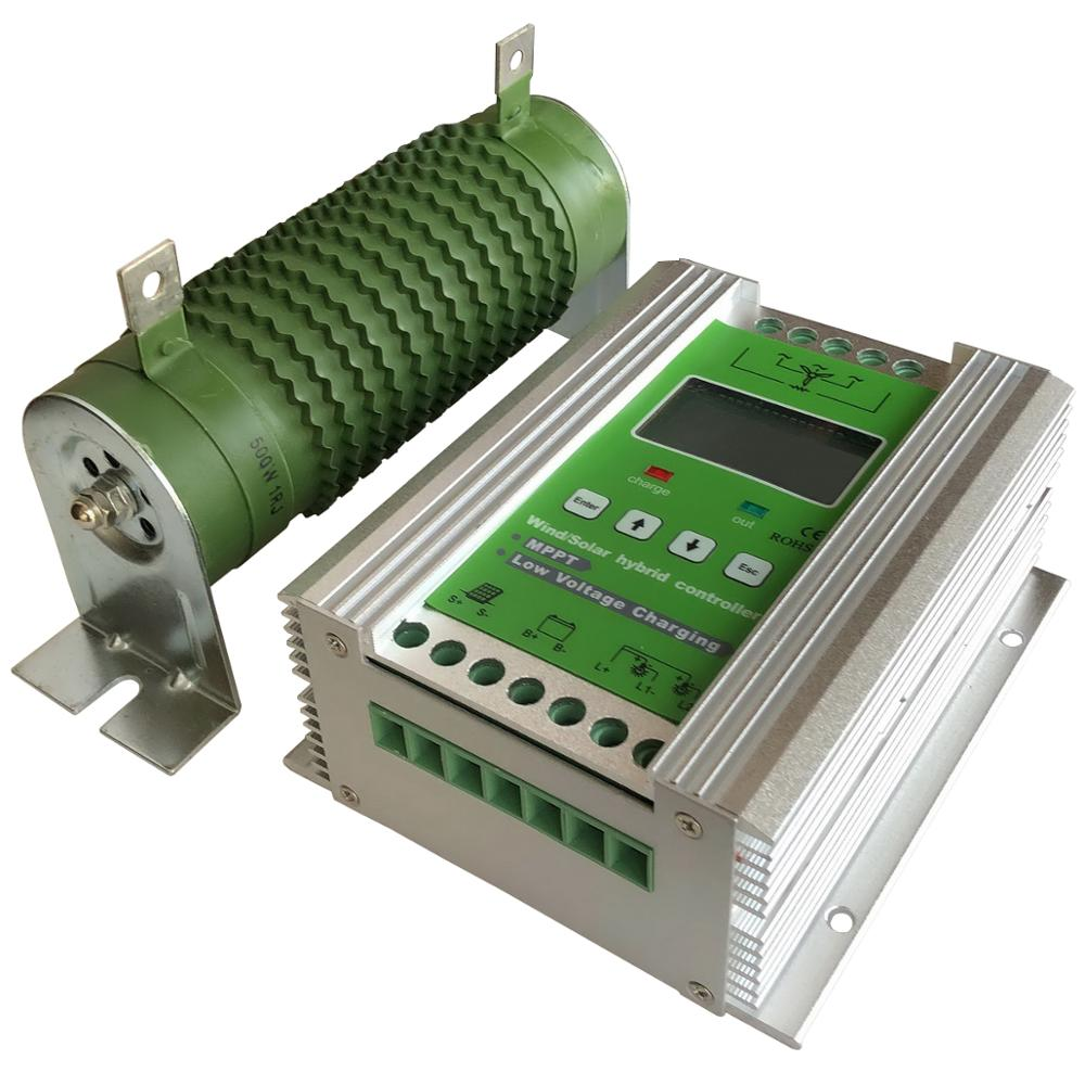 Boost MPPT Wind Solar Hybrid Laderegler 900W 24V 12 V, wind Turbine 500W + 400W Solar MPPT Laderegler Regler 50A