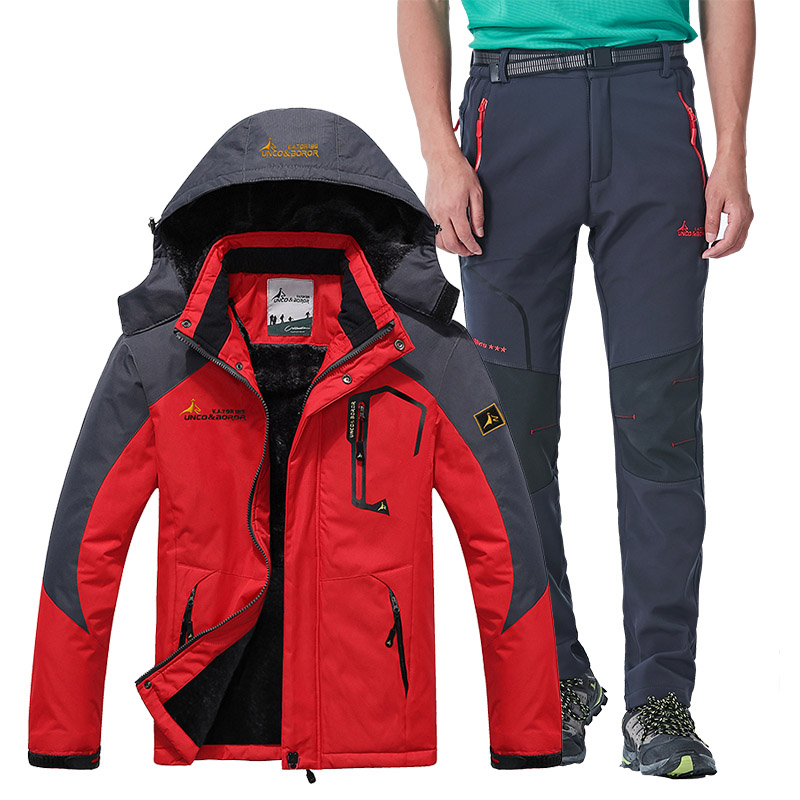 Men's Ski Suit Winter Thick Warm Windproof Waterproof Snow Jackets And Pants Outdoor Sports Skiing Snowboard Jacket Men Brand
