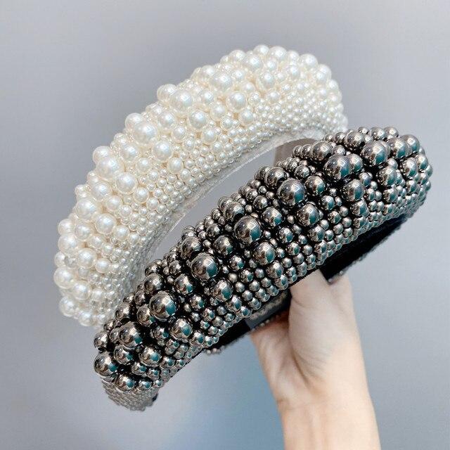 Головной убор с жемчужинами в стиле барокко повязка на голову