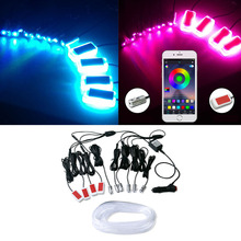 Car Interior Light LED Atmosphere Lights Car Styling Ambient Lamp Door Decoration Dashboard Decorative Strip Atmosphere Lamps 4 in 1 tire atmosphere lamps car wheel eyebrow lights car styling high quality led exterior ambience light tyre decoration