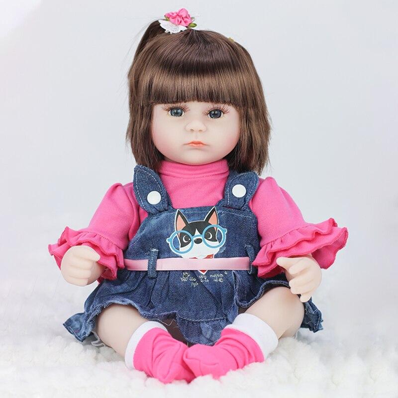 Música de july's 42cm bebê reborn bonecas de vinil brinquedos para meninas realista boneca do bebê lifelike macio da criança renascer bebe reborn realista