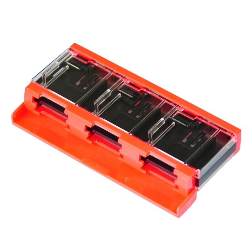 Game Cassette Storage Box 6 Grid Bouncing Portable Card Holder Case For Nintendo Memory Card