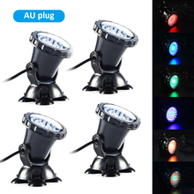 4 Submersible 36 LED RGB Pond Spot Light for Underwater Pool Fountain Decorative Night Lighting Lamp IP68 Underwater Lights
