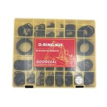 O-ring Kit For Excavator Komatsu 32 sizes=555 Pcs  NBR 90 O-Ring kit 2 sets for komatsu pc200lc 2 boom cylinder repair seal kit excavator service kit 3 month warranty