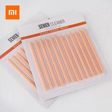 24PCS Xiaomi שמן טיהור ביוב מקלות מטבח צינור אמבטיה אסלת ניקוז מנקה ביוב ניקוי מוט מפיג ריח