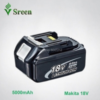 5000mAh BL1850 Li ion Replacement for Makita 18V BL1830 BL1840 LXT400 BL1815 Power Tool Rechargeable Lithium Battery With LED