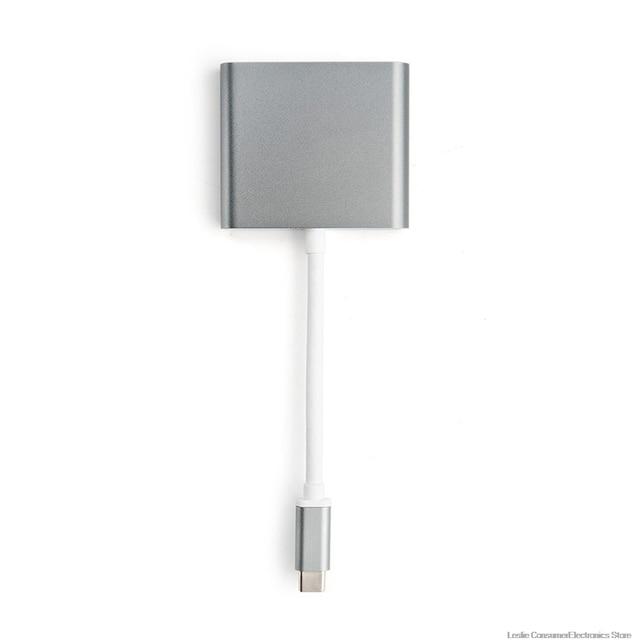 Mosible USB C концентратор к HDMI адаптер для Macbook Pro/Air Thunderbolt 3 USB Type C концентратор к HDMI 4K USB 3,0 порт USB-C доставка питания
