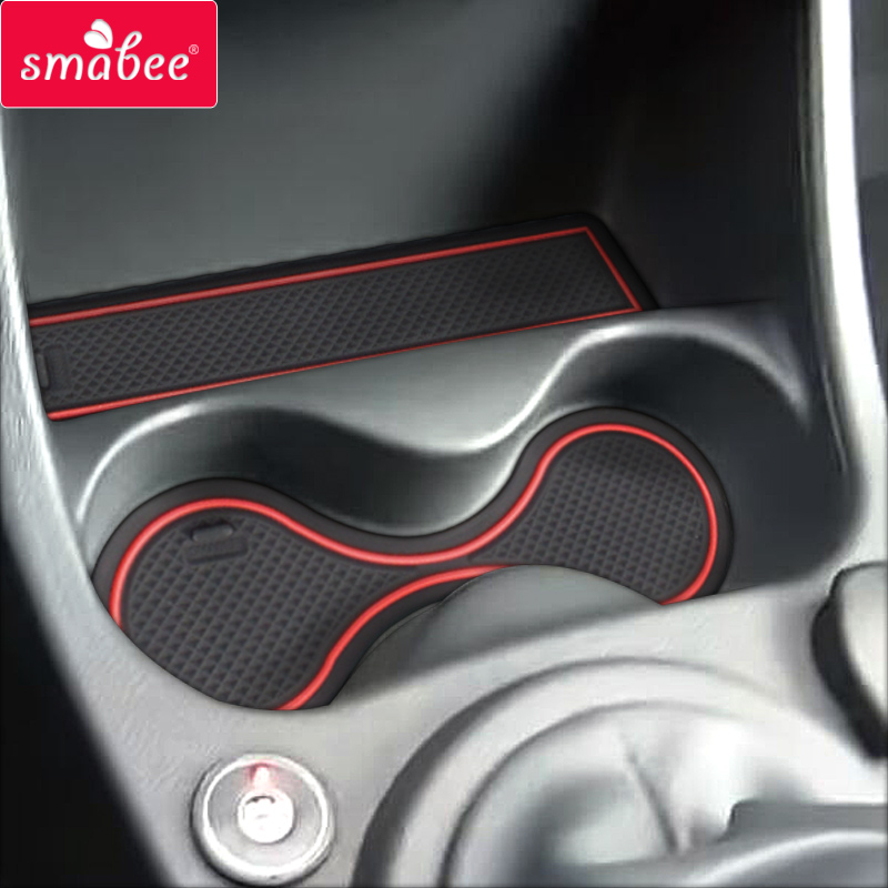 Smabee Gate Slot Cup Mat for Lada Largus Cup Holder Non-Slip Pad Accessories Rubber Coaster Interior Car Sticker