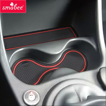 Smabee Gate slot Cup Mat for Lada Largus Cup Holder Non-slip Pad Accessories Rubber Coaster Interior Car sticker for lada largus 2012 2018 trunk mat floor rugs non slip polyurethane dirt protection interior trunk car styling