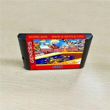 סופר Marioed Bros. & קרב עיר 16 קצת MD משחקי מחסנית עבור MegaDrive בראשית קונסולה