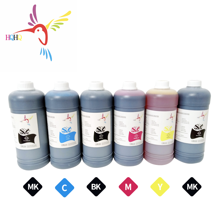HQHQ 6 Colors Avaliable Pigment Ink for PFI 102 Cartridge For CANON PFI 500 600 700 510 610 710 printers|Ink Refill Kits| |  -