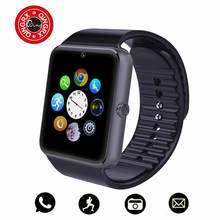 QINGRX Bluetooth Smart Watch Men GT08 With Touch Screen Big Battery Support TF Sim Card Camera For IOS iPhone Android Phone(China)