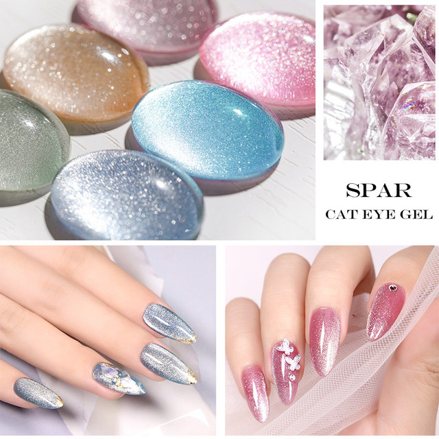 Venalisa Transparent Gel Polish Varnishes Hybrid Nails For Manicure 7.5ML Ice Spar Cat Eyes Soak off Enamel UV Gel Nail Polish 2