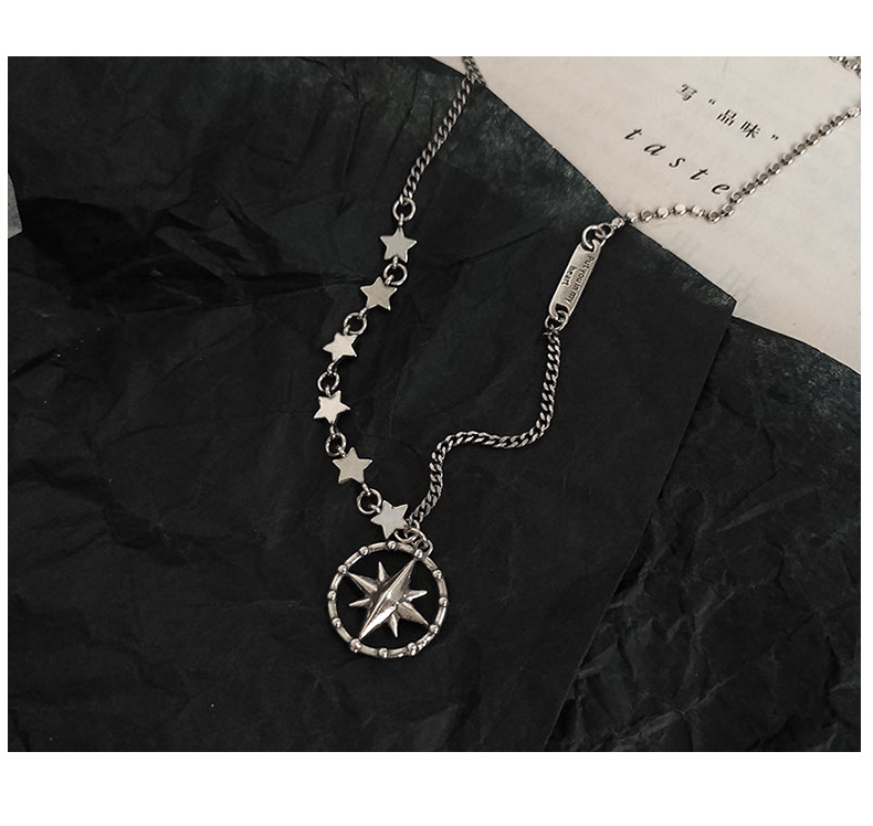 Timeless Wonder 925 Sterling Sliver Vintage Star Geo Charm Necklace Women Jewelry Gothic Boho Trendy Top Kpop Ins Punk Gift 2632