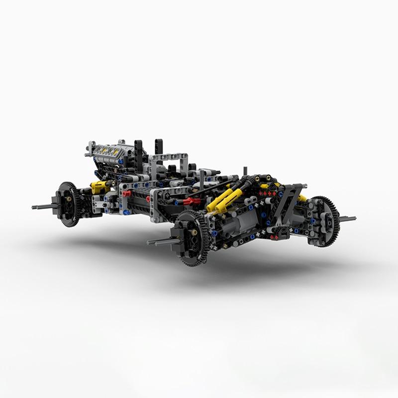 BuildMoc An4WD RC Buggy voor MOC 19517 Legoings Bouwstenen Speelgoed Kit DIY Educatief Kinderen Verjaardagscadeau-in Blokken van Speelgoed & Hobbies op  Groep 2