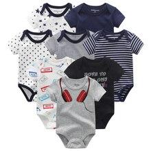 Salopette en coton pour nouveau né, combinaison pour bébé, vêtements dhiver pour fille et garçon, 8 pièces